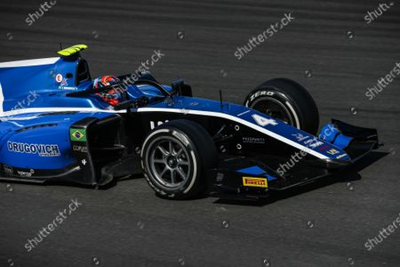 Stock Picture of 04 Felipe Drugovich from Brasil of UNI - Virtuosi Racing, action during Day One of FIA Formula 2 Testing at Circuit de Barcelona - Catalunya on April 23, 2021 in Montmelo, Spain.