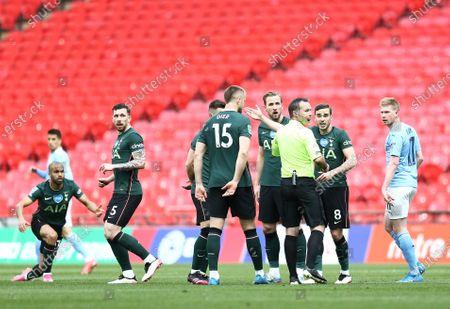 Editorial picture of Manchester City v Tottenham Hotspur, Carabao Cup, Final, Football, Wembley Stadium, London, UK - 25 Apr 2021