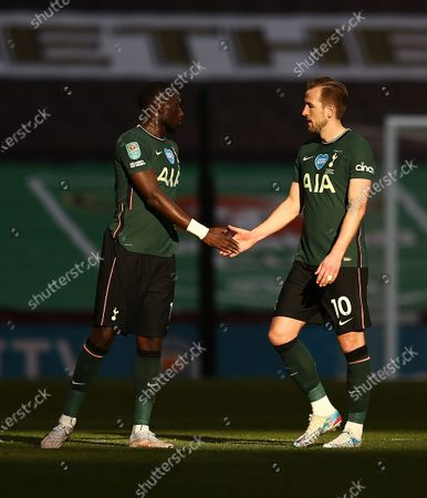 Harry Kane  and Moussa Sissoko of Tottenham Hotspur after the match