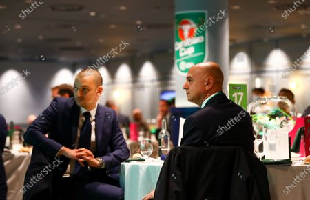 Carabao Commercial & Marketing General View of Wembley EFL Hospitality Suite - Daniel Levy (R) - Spurs' Chairman & son