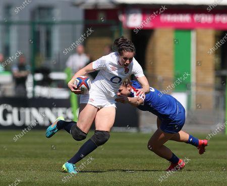 Editorial image of England Women v France Women, Women's Six Nations, Final, Rugby Union, Twickenham Stoop, London, UK - 24 Apr 2021