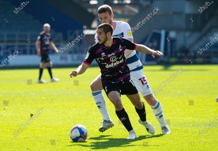Emiliano Buendia of Norwich City and Sam Field of QPR