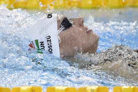Three-times olympic winner Katinka Hosszu of Hungary in action during women's 400 meters Medley during the Helsinki Swim Meet competition in Helsinki, Finland on Friday, 23rd April, 2021.