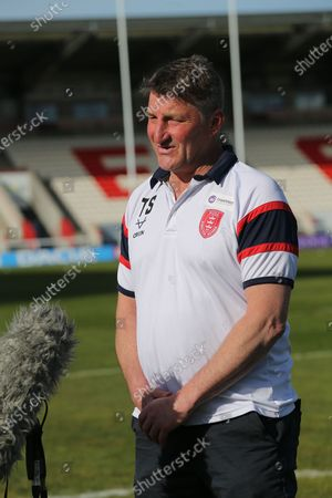 Hull KR Head Coach Tony Smith during the Betfred Super League match between Hull Kingston Rovers and Leeds Rhinos at the Lightstream Stadium, Hull