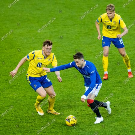 Scott Wright of Rangers on the ball during the Scottish Cup quarter final match at Ibrox Stadium, Glasgow.