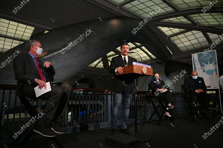 Stock Photo of Neil deGrasse Tyson speaks during a press conference at the American Museum of Natural History in New York.