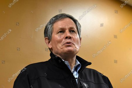 Montana Republican U.S. Sen. Steve Daines speaks to reporters on the campus of Montana State University Billings in Billings, Mont., on . Daines says he has concerns with President Joe Biden's pick to lead the U.S. Bureau Land Management, Tracy Stone-Manning, over her ties to groups that aired campaign ads against him in the 2020election