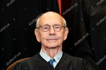 Associate Justice Stephen Breyer sits during a group photo of the Justices at the Supreme Court in Washington, DC on Friday, April 23, 2021.   Pool photo by Erin Schaff/UPI