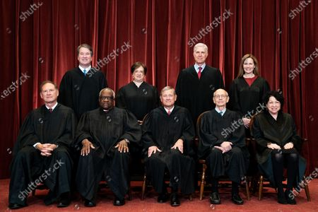 Editorial picture of Supreme Court of the United States Group Photo - April 23, 2021, Washington, District of Columbia, USA - 23 Apr 2021