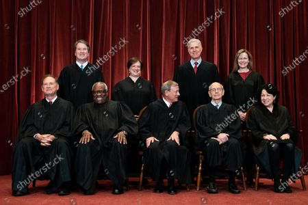 Editorial photo of Supreme Court of the United States Group Photo - April 23, 2021, Washington, District of Columbia, USA - 23 Apr 2021