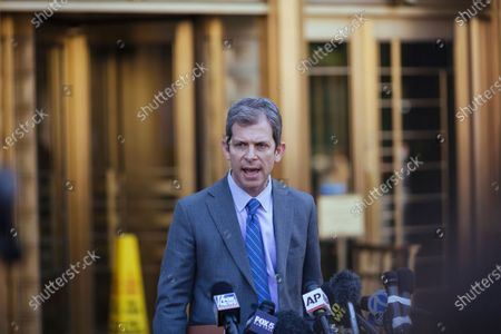 Maxwell family lawyer David Markus speaks following Ghislaine Maxwell's appearance in Federal Court, in New York. Ghislaine Maxwell, a British socialite and one-time girlfriend of Epstein, pleaded not guilty to sex trafficking conspiracy and an additional sex trafficking charge that were added in a rewritten indictment released last month by a Manhattan federal court grand jury