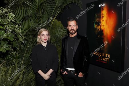 """Editorial image of Justin Theroux and Logan Polish Greet Guests at Apple's """"The Mosquito Coast"""" FYC Special Drive-In Screening.,Queens, New York,Queens, - 23 Apr 2021"""