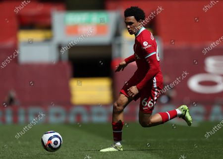 Trent Alexander-Arnold of Liverpool runs with the ball; Anfield, Liverpool, Merseyside, England; English Premier League Football, Liverpool versus Newcastle United.