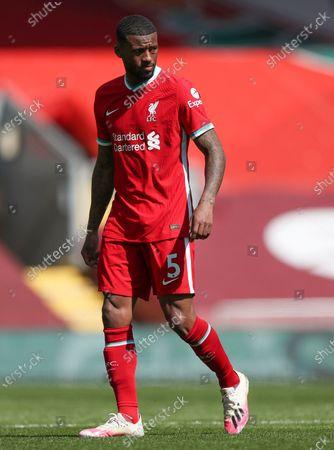 Georginio Wijnaldum of Liverpool; Anfield, Liverpool, Merseyside, England; English Premier League Football, Liverpool versus Newcastle United.