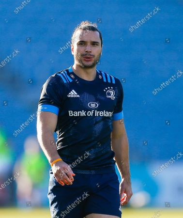 James Lowe of Leinster warms up prior to kickoff; RDS Arena, Dublin, Leinster, Ireland; Rainbow Cup Rugby, Leinster versus Munster.