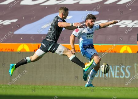 Editorial image of Ospreys v Cardiff Blues, Guinness Pro14 Rainbow Cup, Rugby Union, Liberty Stadium, Swansea, Wales, UK - 24 Apr 2021