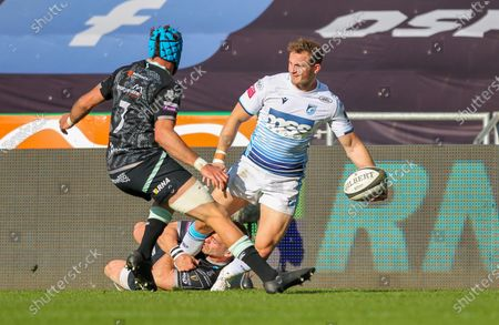 Editorial photo of Ospreys v Cardiff Blues, Guinness Pro14 Rainbow Cup, Rugby Union, Liberty Stadium, Swansea, Wales, UK - 24 Apr 2021