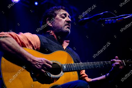 Portuguese singer Rui Veloso participates in the first concert, after the 3 reopening phase due to the covid-19, held at the Superbock Arena, on April 23, 2021, in Porto, Portugal.