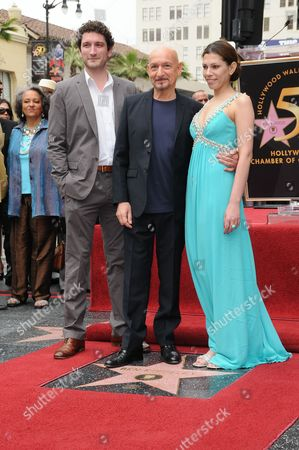 Sir Ben Kingsley, and Wife Daniela and Son Edmund