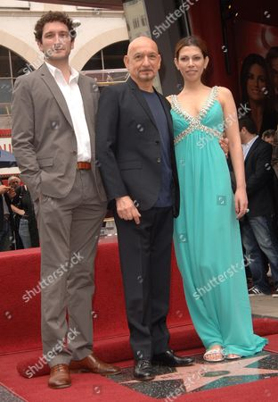 Sir Ben Kingsley, wife Daniela & son Edmund