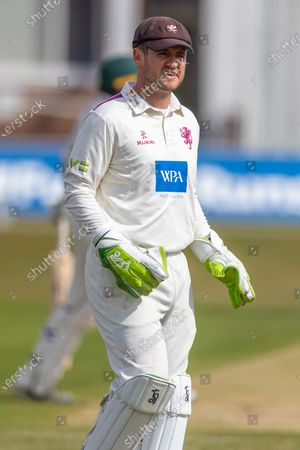 Editorial photo of Leicestershire County Cricket Club v Somerset County Cricket Club, LV= Insurance County Championship - 24 Apr 2021