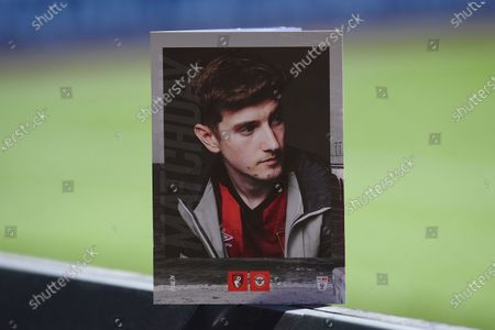 David Brooks of AFC Bournemouth on the front of the match day programme during AFC Bournemouth vs Brentford, Sky Bet EFL Championship Football at the Vitality Stadium on 24th April 2021