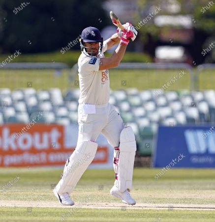 Heino Kuhn bats for Kent during Kent CCC vs Lancashire CCC, LV Insurance County Championship Group 3 Cricket at The Spitfire Ground on 24th April 2021