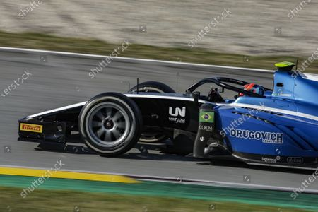 04 Felipe Drugovich from Brasil of UNI - Virtuosi Racing, action during Day Two of FIA Formula 2 Testing at Circuit de Barcelona - Catalunya on April 24, 2021 in Montmelo, Spain.