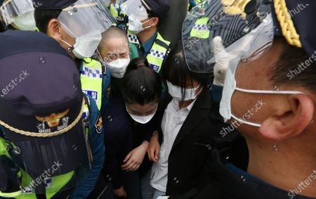 Editorial picture of Protest against Japan's radioactive water discharge in Seoul, Korea - 24 Apr 2021