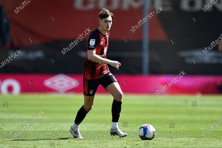 Stock Image of David Brooks (7) of AFC Bournemouth on the attack during the EFL Sky Bet Championship match between Bournemouth and Brentford at the Vitality Stadium, Bournemouth
