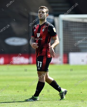 Jack Wilshere (11) of AFC Bournemouth during the EFL Sky Bet Championship match between Bournemouth and Brentford at the Vitality Stadium, Bournemouth