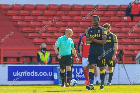 Stock Image of Mikel John Obi (13) Stoke City  during the EFL Sky Bet Championship match between Nottingham Forest and Stoke City at the City Ground, Nottingham