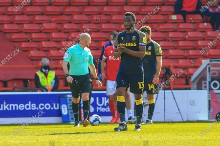 Mikel John Obi (13) Stoke City  applauds during the EFL Sky Bet Championship match between Nottingham Forest and Stoke City at the City Ground, Nottingham