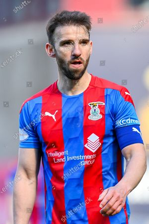Stock Image of Sean Walsh (#4) of Inverness Caledonian Thistle FC during the SPFL Championship match between Heart of Midlothian and Inverness CT at Tynecastle Park