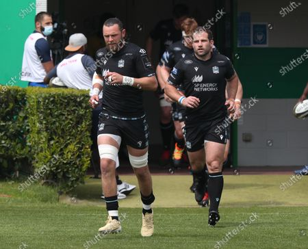 Stock Image of Ryan Wilson and Fraser Brown run onto the field for the kick off.