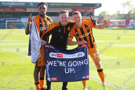 Mallik Wilks,James Scott Greg Docherty during the EFL Sky Bet League 1 match between Lincoln City and Hull City at Sincil Bank, Lincoln