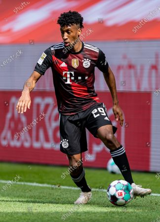 Kingsley Coman of Bayern Munich during the German Bundesliga soccer match between FSV Mainz 05 and Bayern Munich in Mainz, Germany, 24 April 2021.