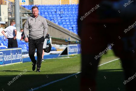 Coventry City manager Mark Robins during the EFL Sky Bet Championship match between Coventry City and Preston North End at the Trillion Trophy Stadium, Birmingham