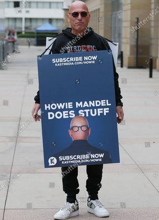 Howie Mandel filming AGT