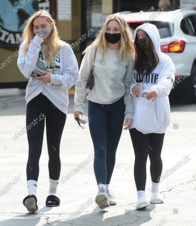 Stock Photo of Alexis Ren, Maddie Ziegler and Mackenzie Ziegler