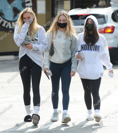 Editorial image of Alexis Ren, Maddie Ziegler and Mackenzie Ziegler out and about, Los Angeles, CA, USA - 23 Apr 2021