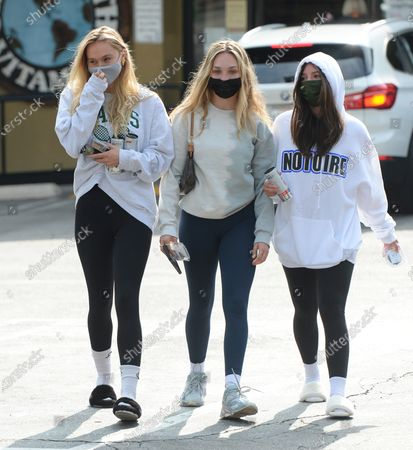 Editorial picture of Alexis Ren, Maddie Ziegler and Mackenzie Ziegler out and about, Los Angeles, CA, USA - 23 Apr 2021