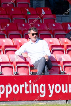 Roy Keane during the EFL Sky Bet League 2 match between Salford City and Mansfield Town at the Peninsula Stadium, Salford
