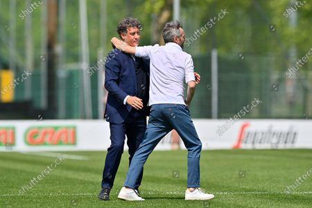 Maurizio Ganz (Head Coach AC Milan) and Attilio Sorbi (Head Coach Inter) after the Italian Cup semifinals second leg match between AC Milan and FC Internazionale at Vismara sports center (Milan), Italy