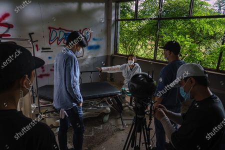 Editorial picture of FILMING VR FILM DURING PANDEMIC SOUTH KOREA, Monkey House, Dongducheon, Gyeonggi Province, South Korea - 15 Sep 2020