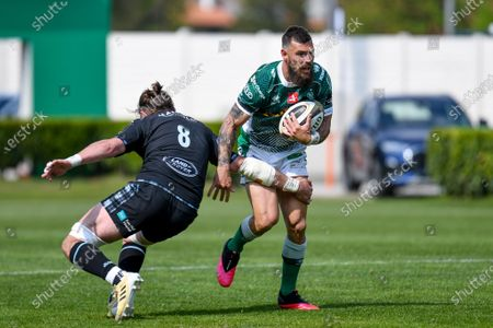 Editorial picture of Benetton Treviso v Glasgow Warriors, Guinness Pro 14 Rainbow Cup Rugby match, Stadio Comunale Di Monigo, Treviso, Italy - 24 Apr 2021