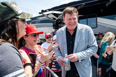 Stock Image of Patrick Byrne greets fans at the Save America Patriot Rally on April 24, 2021 in Bradenton, FL.