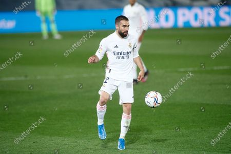 Daniel Carvajal of Real Madrid in action during the spanish league, La Liga, football match played between Real Madrid and Real Betis at Ciudad Deportiva Real Madrid on April 24, 2021, in Valdebebas, Madrid, Spain.
