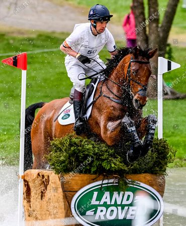 Stock Picture of , 2021, Lexington, KY, USA: Harry Meade competes in the Cross Country phase of the Land Rover 5* 3-Day Event aboard Superstition at the Kentucky Horse Park in Lexington, Kentucky. Scott Serio/Eclipse Sportswire/CSM