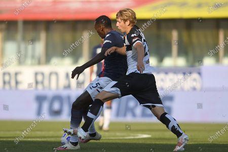 "Simy Simeon Tochukwu Nwankwo (Crotone)Daan Dierckx (Parma)           during the Italian ""Serie A"" match between Parma 3-4 Crotone at  Ennio Tardini Stadium Stadium in Parma, Italy."